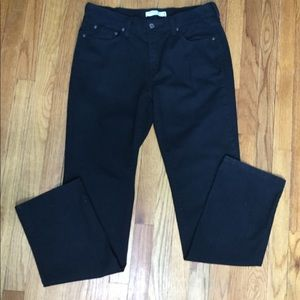 Levi's 12 Long 505 Jeans Black Straight Stretch